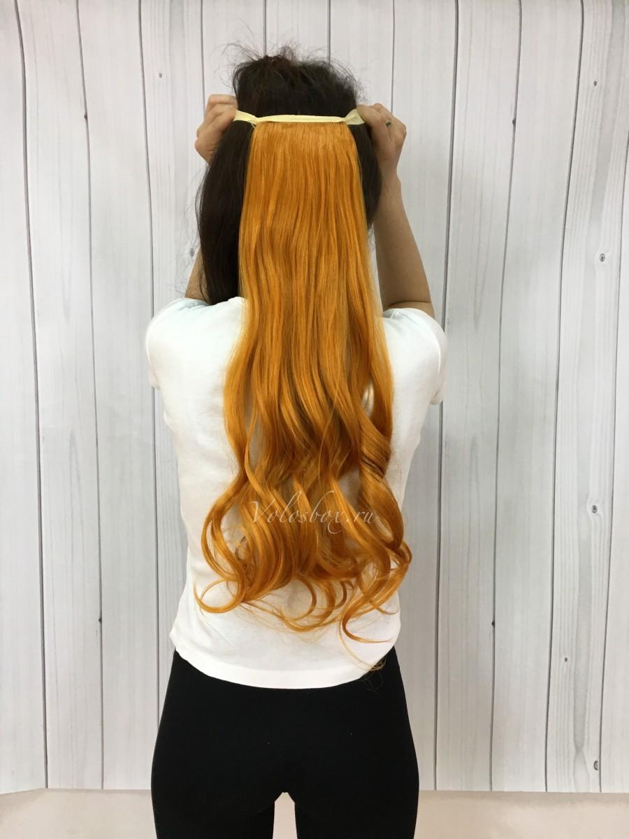 Как сделать хвост с волосами на заколках фото